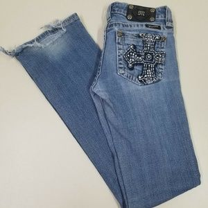 MISS ME Boot Jeans JP5009-3 Distressed Sz 28